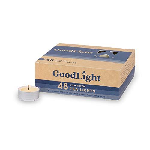 GoodLight Paraffinfrei Natürliche Teelichter Kerze, 48 Stück