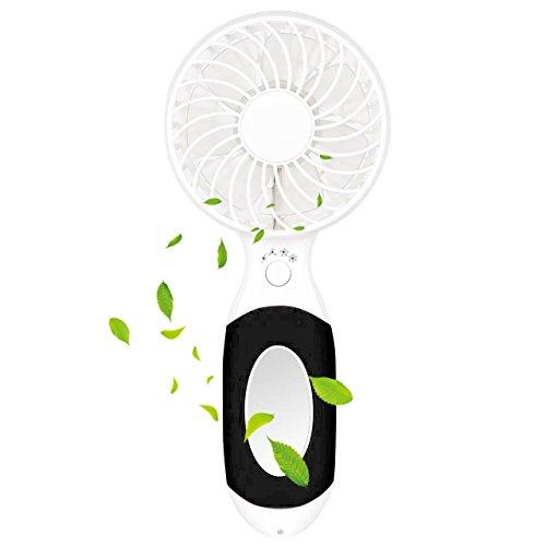 LIFU Mini USB Handverntilator, Leise Tragbar Wiederaufladbare Elektrische 3 Geschwindigkeits persönlichen Vielzweck-Fan mit LED Licht für Reisen Wandern Hause Büro
