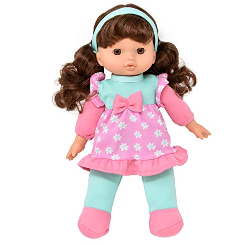Soft Baby Doll, 12 Inch Girl Doll with Hair, My First Doll for Infants, Toddlers, Girls and Boys