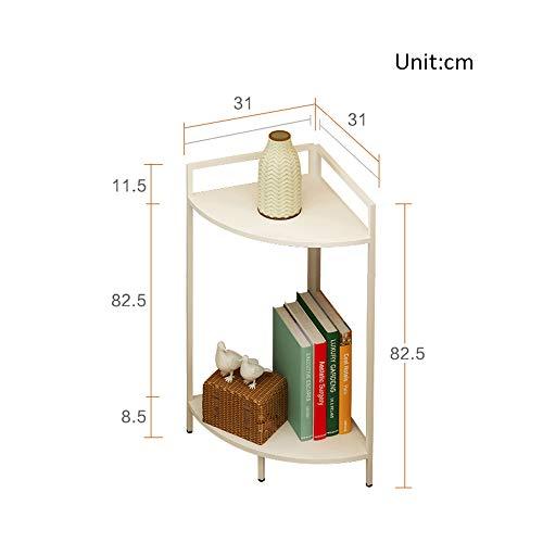 Librerie YANFEI Angolo a 2 Piani, Mobile ad Angolo con Struttura ad Angolo in Legno ad Angolo con Struttura in Metallo (8 Colori) (Colore : Small-4)