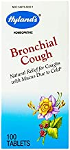 Hyland's Cough Medicine for Adults Bronchial Cough Tablets Natural Relief Cough with Mucus Due to Cold, 100 Count