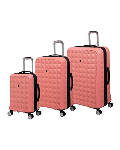 it luggage Reiterate Hardside Expandable Spinner, Bone Coral, 3-Piece Set (22/28/32)
