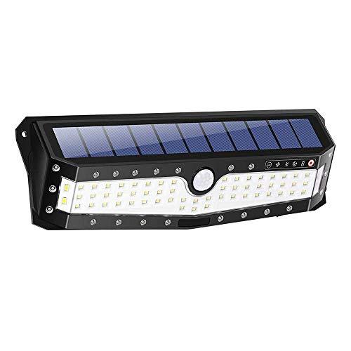 Solarlampen für Außen LXQIY Solar Aussenleuchte mit Bewegungsmelder 79 LEDs 800 Lumen IP65 270° Wasserdicht Superhelle Solarleuchten Fortgeschritten Solarleuchte Beleuchtung 4 Modi für Gärten Flur