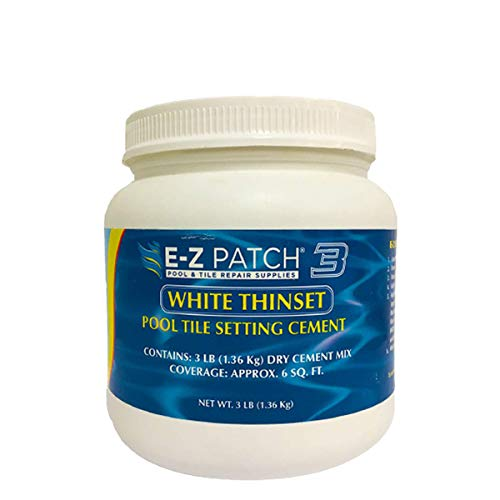 E-Z Patch 3 Pool Tile Glue for Repairs - Color Adjustable Tile Adhesive for DIY Repairs (3 lbs)
