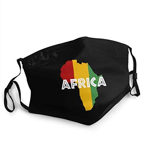 If Nothing Af-r-ica Ra-s-ta Auf schwarzen Outdoor-Bandanas, schützendes 5-Lagen-Aktivkohle-Kopftuch für Erwachsene für Männer und Frauen