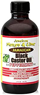 Jamaican Mango & Lime Peppermint Black Castor oil – – fast absorbing, nourishing natural oil, moisturizes dry flaky scalp ...