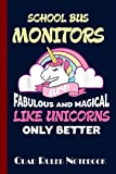 School Bus Monitor Unicorn Composition notebook: unicorn composition notebook wide ruled, back to school gift