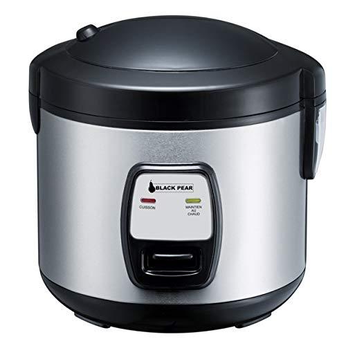 BlackPear BRK 20 Cuiseur à riz, INOX, 1 Liter, Noir et Gris