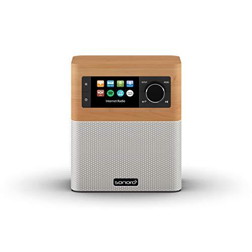 sonoro Radio por Internet para Cocina y baño (FM Dab+, AUX, Bluetooth, Spotify, Amazon Music, Deezer) Arce y Blanco (2020)