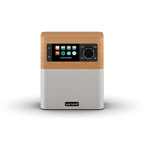 sonoro Radio por Internet para Cocina y baño (FM/Dab+, AUX, Bluetooth, Spotify, Amazon Music, Deezer) Arce y Blanco (2020)