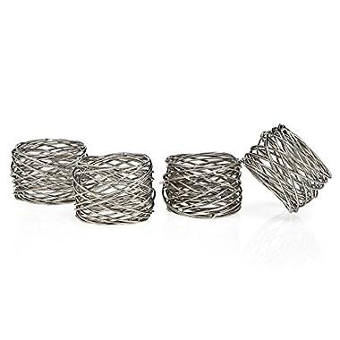 Set OF 12 Round Mesh Napkin Rings