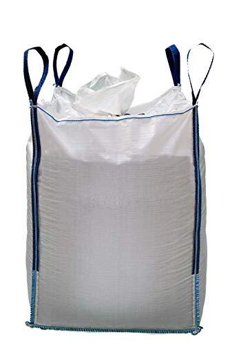 MULTISAC Big Bag 90x90x100 cms. Camisa + Fondo Plano. FIBC 1000 KG Ideal para la gestión de escombros, transporte de tierra, árido, etc. (1)