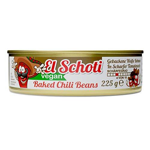 Schlump-Chili⎪BAKED EL SCHOTI CHILI BEANS⎪Gebackene Weiße Bohnen in leicht scharfer Tomatensoße (1 x 225g)