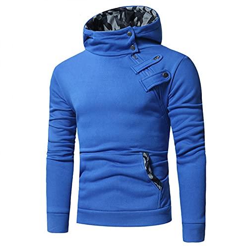 NHNKB Sudadera con capucha para hombre, sudadera con capucha, chaqueta de forro polar, sudadera de entretiempo, ropa deportiva para adultos, hombres, jóvenes, cuello alto