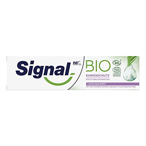 Signal Zahnpasta Bio (mit natürlichen Pflanzenextrakten schützt Zähne und Zahnfleisch), 75 ml (1 x 75 ml)