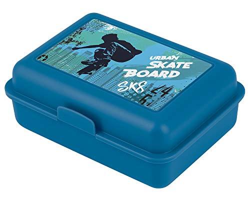 Brotdose Kinder für Schule – Lunchbox für Jungen, Kindergarten – Jausenbox, Brotzeitbox, Brotbox, Snackbox (Skateboard)