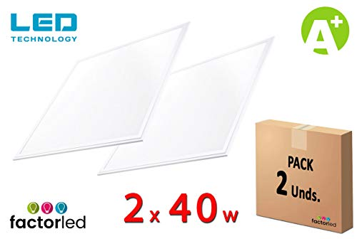 FactorLED Pack 2x Panel LED 60x60 cm 40W, 2 unidades Lampara
