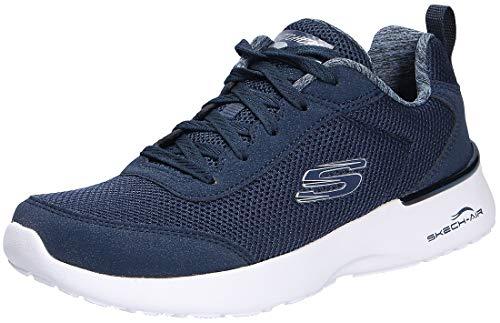 Skechers Skech-Air Dynamight-Fast Brak, Zapatillas Mujer, Azul (Navy Mesh/White Trim Nvy), 39 EU