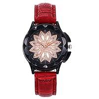 QTMIAO 美しいドレスウォッチ時計 女史ベルトが運命を時計クォーツ腕時計 (Color : 4)