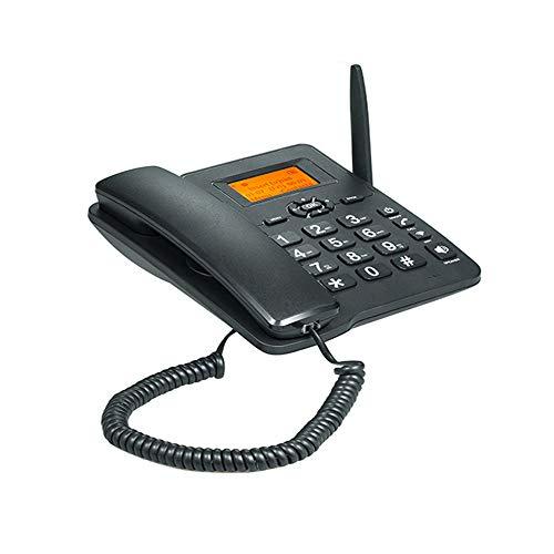 Teléfono fijo inalámbrico 4G WIFI, tarjeta GSM SIM LCD de escritorio para oficina, hogar, centro de llamadas empresa, hotel (con batería de 1000 mAh 3.7)