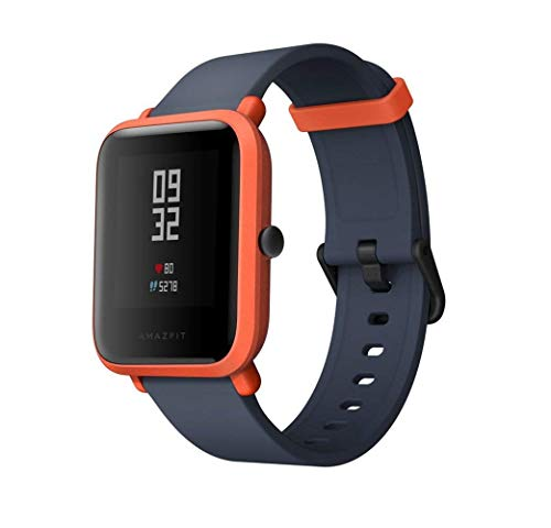 Smart Watch, Amazfit Bip Youth Edition GLONASS GPS frequenza cardiaca sport fitness tracker orologio schermo 3,3 cm 32 G ultra-leggero IP68 impermeabile 45DAY standby, donna, Amazfit Bip, Orange