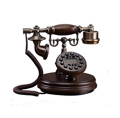 SMSOM Teléfono Retro Teléfono Europeo Solid Body Button Button Dial Hogar Antiguo Línea Fija Lanzamiento Retro Teléfono Antiguo Teléfono (línea telefónica)