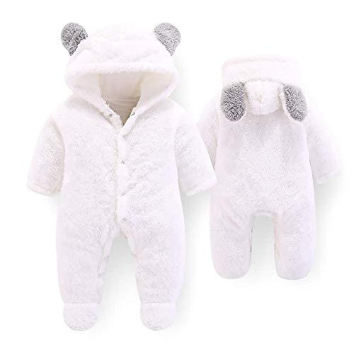 Letuwj Newborn Baby Cartoon Cute Bear Ear Fleece Hooded Snowsuit Winter...