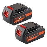 2-Pack Jialitt LBX20 6.0Ah Replacement Battery for Black and Decker 20V Lithium Battery Max 20 Volt LB20 LBXR20-OPE LCS20 LBX4020 LB2X4020-OPE Black and Decker Battery