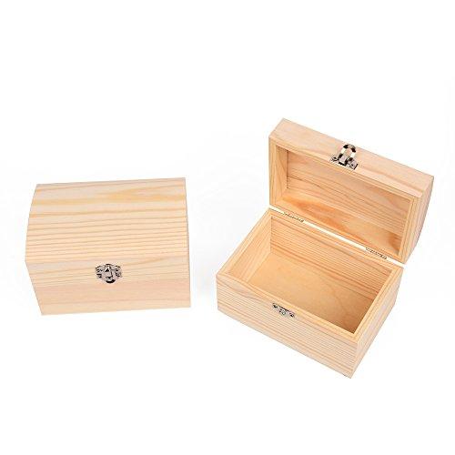EAST-WEST Trading GmbH Holz-Schatzkisten, 2er Set auch zum Bemalen, Holztruhen, Schatzkiste, Schmuckkästchen