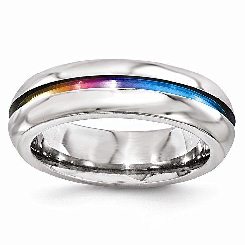 DIAMOND2DEAL INC Alianza de Boda anodizada de Titanio de 6 mm