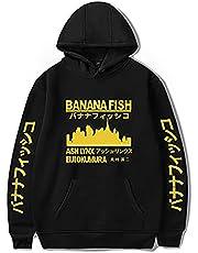 xhomeshop Banana Fish Uniseks Hoodie Anime Print Casual Sports Lange Mouw Pullover Aslan Jade Callenreese Langarm Cosplay Sweatshirt