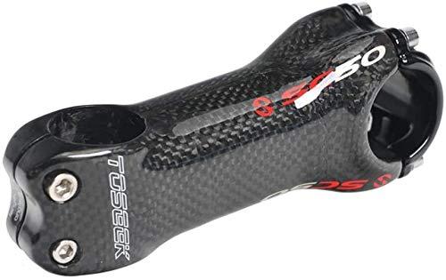 Yshuai - Attacco manubrio per mountain bike, 31,8 mm, in fibra di carbonio, per la maggior parte delle biciclette, BMX, MTB, bici da corsa, ±6°, 90 mm