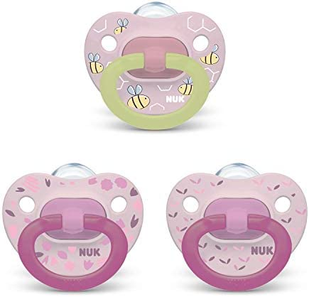 NUK Orthodontic Pacifier Value Pack Girl 0 6 Months 3 Pack product image