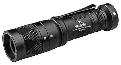 SureFire V1-B-BK V1 Vampire Dual Output LED Light, 250 lm from SureFire