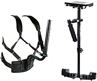 FLYCAM HD-3000 Handheld Camera Stabilizer Steadycam with Body Pod Support + Quick Release Plate Adapter + Table Clamp fr S...