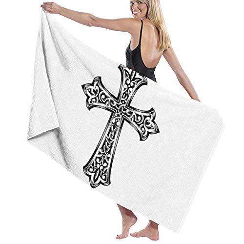 asdew987 Toallas de playa cristiano Jesús Cross Toallas de baño para adolescentes niñas adultos toalla de viaje toalla de 31 x 51 pulgadas