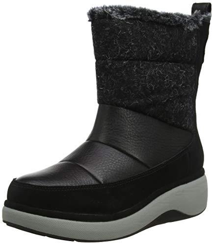 Clarks Un Vista Walk2, Botas de Nieve Mujer, Negro (Black), 37.5 EU