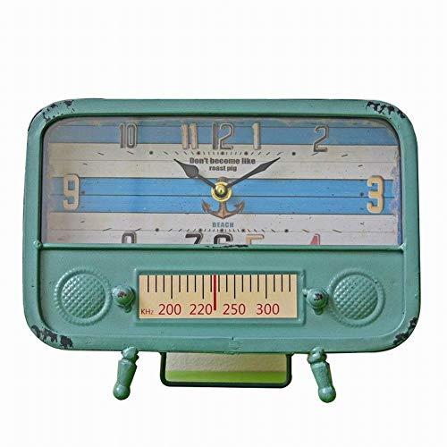 Whbage - Reloj despertador retro vintage de hierro para sala de estar, dormitorio, oficina, péndulo