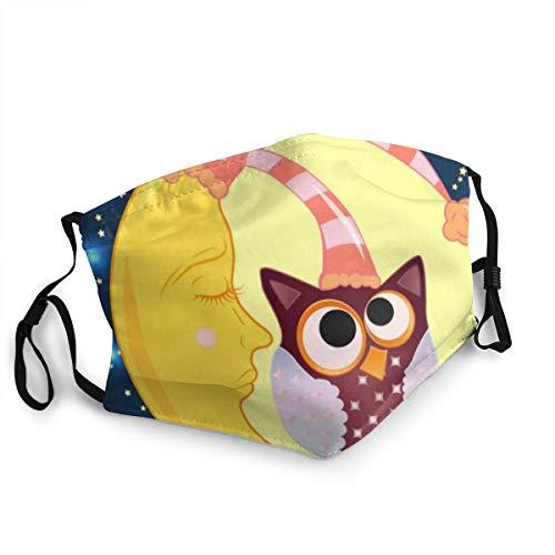 Preisvergleich Produktbild Unisex Eine süße Cartoon-Eule mit Augen 15 cm * 20 cm Unisex-Staubmaske Sicherheit Warme winddichte Mundabdeckung