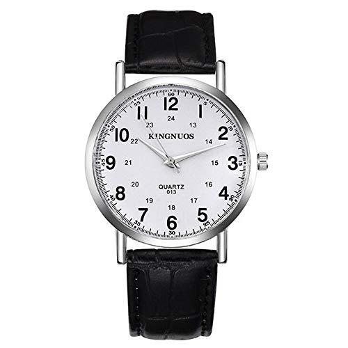 ZSDGY Reloj con Hebilla de Hora, Reloj Retro Simple con cinturón Salvaje Reloj de Cuarzo A