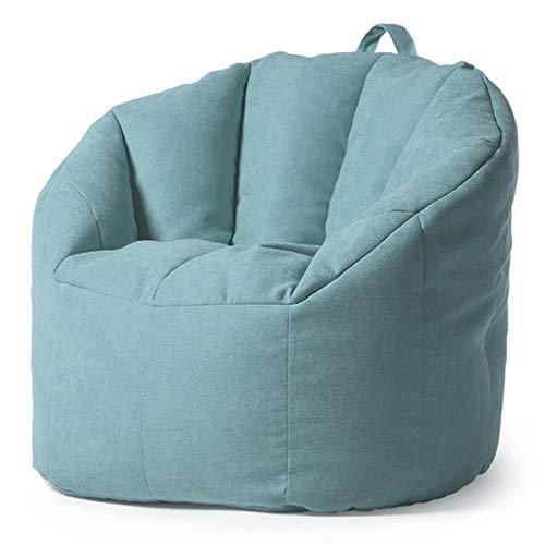 ReedG Bohnenbeutel Große Buttersack-Stuhl-Sofa-Couch-Liege Hoher hinterer Buttersackstuhl for Erwachsene und Kinder Drinnen Draußen (Color : Ice Crystal Blue, Size : One Size)