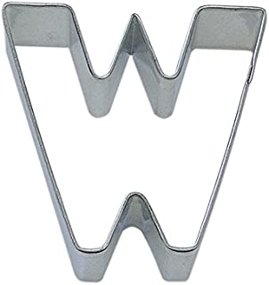 R&M Letter W Cookie Cutter in Durable, Economical, Tinplated Steel