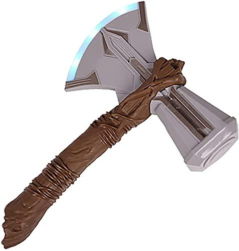 MOMAMOM Hacha De Thor Marvel Legends Martillo Juguete Axe Avengers Stormbreaker Mjolnir Vikinga Infinito Luz y Sonido Víspera de Todos los Santos El Arma de Thor