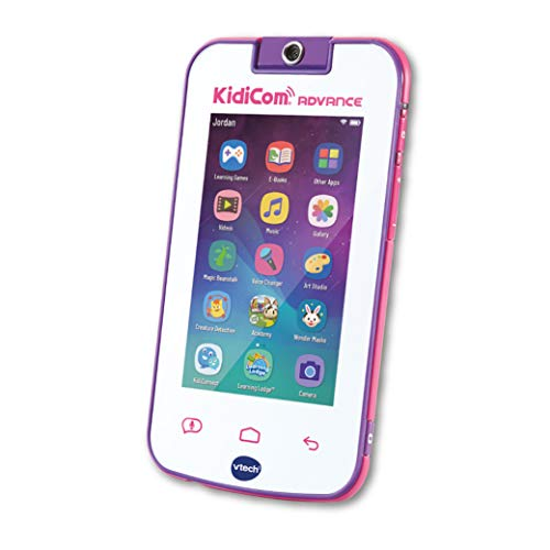 Vtech Kidicom Advance Kids Mobile Device, Learning Toy and Safe Communication Device Featuring e-Books, Camera, Children-Friendly Apps, Games and More, for Boys and Girls, 3, 4, 5, 6+ Year Olds, Pink