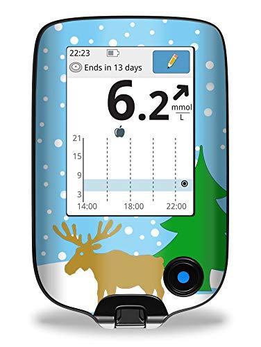 Elch im Schnee - Sticker Aufkleber für FreeStyle Libre Lesegerät