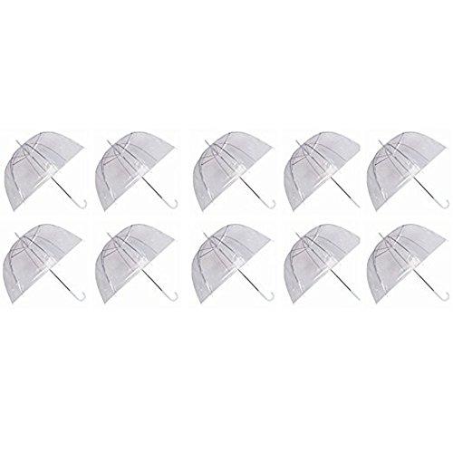 Ardisle Set de 10 parapluies de Pluie Dome Birdcage Clear PVC Transparent en Plastique de Mariage