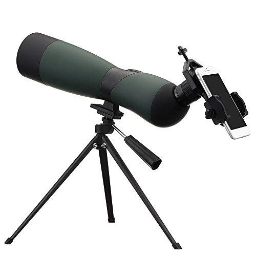 AYDQC Monocularteleskop 25-75x70 Zoom monokulare Optik Vogel Spek Teleskop mit Stativ-Telefon-Halter-Reise im Freien for Vogelbeobachtung ng fengong (Color : Black+Green, Size : 35x9.3x13.5cm)