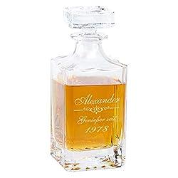 Whiskykaraffe Gravur - personalisierte Whisky-Geschenke für Männer