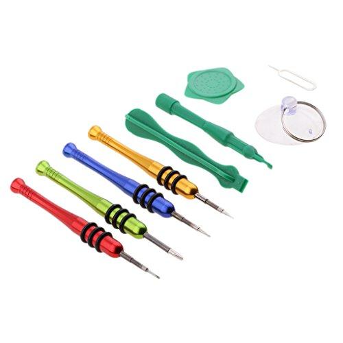 B Blesiya Kits de Apertura de Herramientas de Desmontaje 9 en 1 para Reparación de, Tabletas Y PC