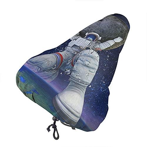 Bong6o Giant Astronaut Planet Space - Funda para asiento de bicicleta unisex extra suave y duradera